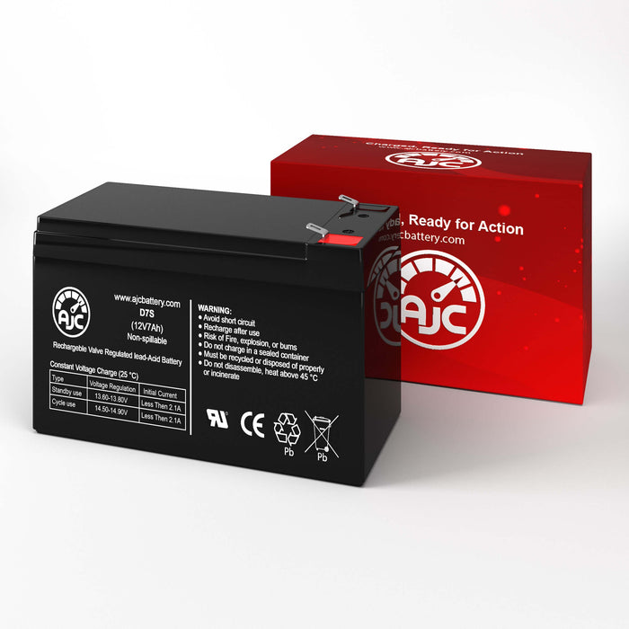 Helios FB12-7 12V 7Ah Sealed Lead Acid Replacement Battery-2