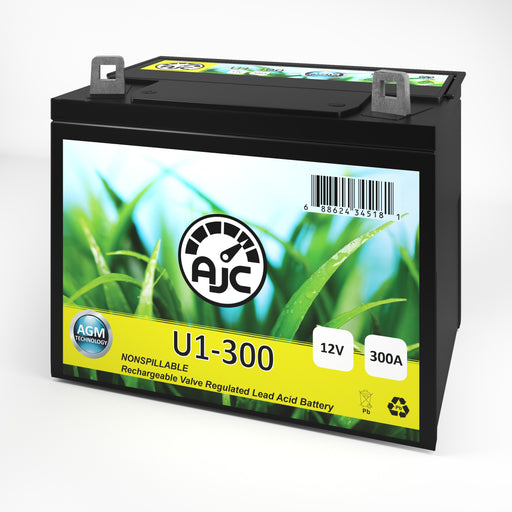 AJC U1 Lawn Mower and Tractor Battery