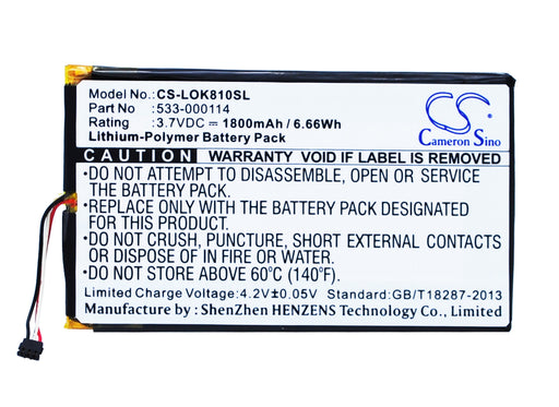 Logitech IIIuminated Keyboard K810 K810 Replacement Battery