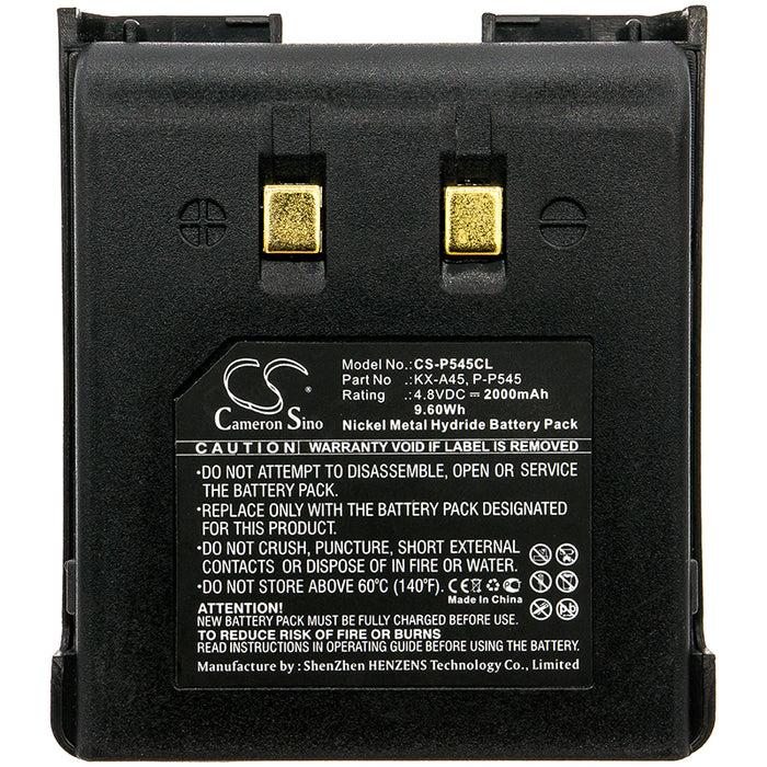 Panasonic A48AR A48BL A48NW A48S A48SL KX-9280B KX Replacement Battery