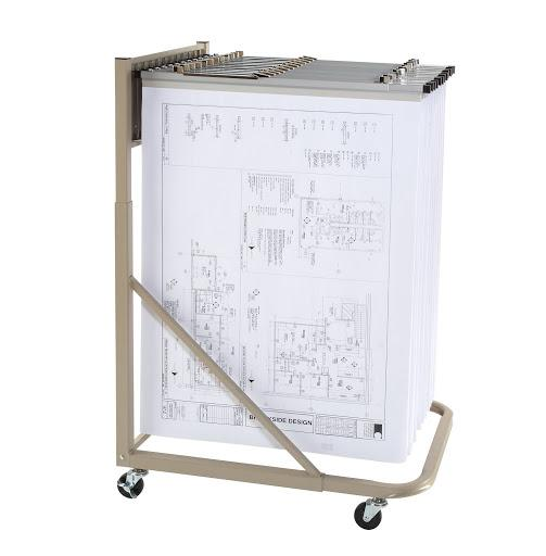 Steel Sheet File Mobile Stand for Blueprints