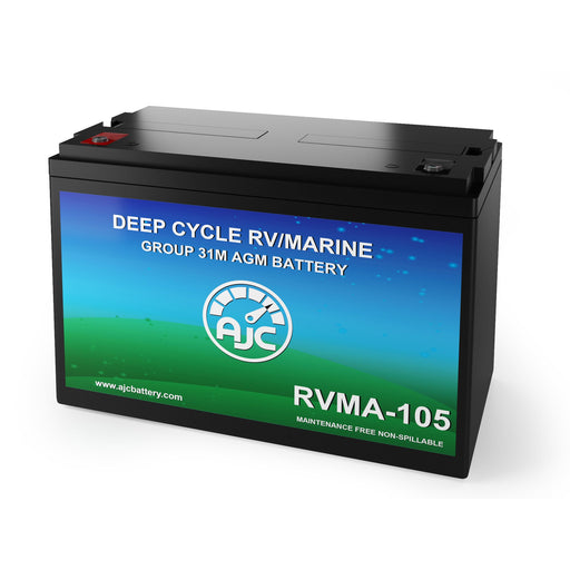 AJC 12V 105Ah Deep Cycle Marine and Boat Battery