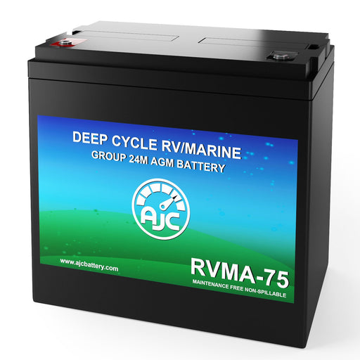 AJC 12V 75Ah Deep Cycle Marine and Boat Battery