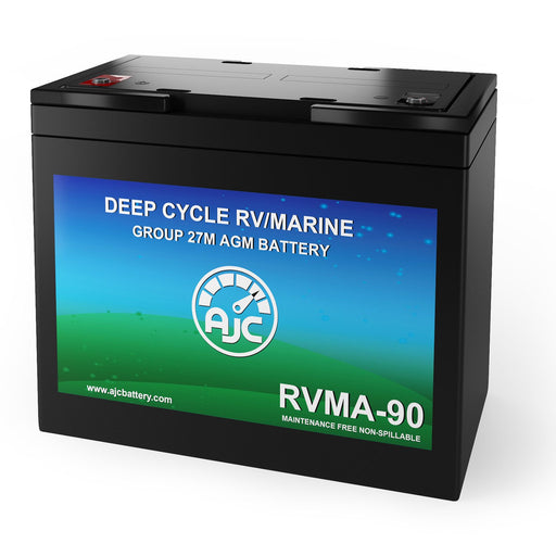 AJC 12V 90Ah Deep Cycle Marine and Boat Battery