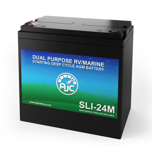 AJC Group 24M Dual Purpose Starting and Deep Cycle Marine and Boat Battery