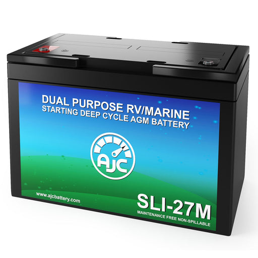 AJC Group 27M Dual Purpose Starting and Deep Cycle Marine and Boat Battery