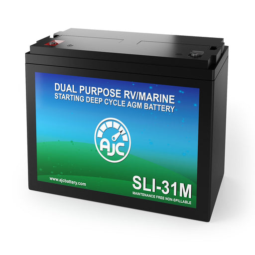 AJC Group 31M Dual Purpose Starting and Deep Cycle Marine and Boat Battery