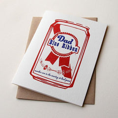 Blue Ribbon Fathers Day Card