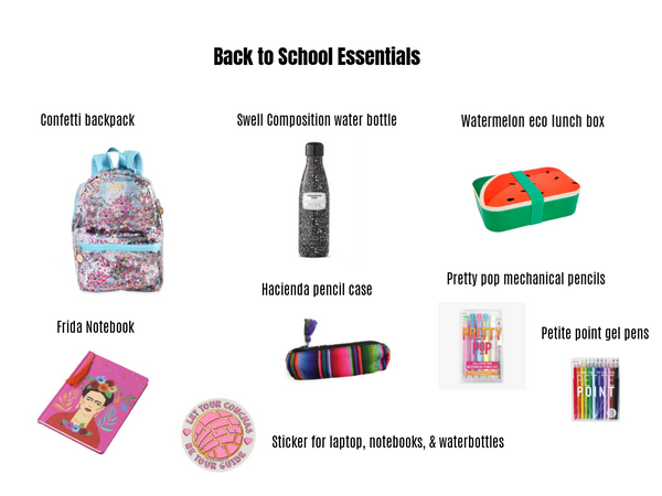 Back to school essentials