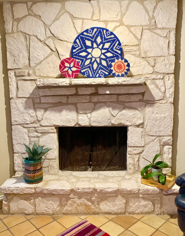 Basket Fire Place Decor