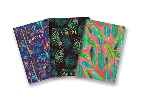 Botanical Notebook Trio