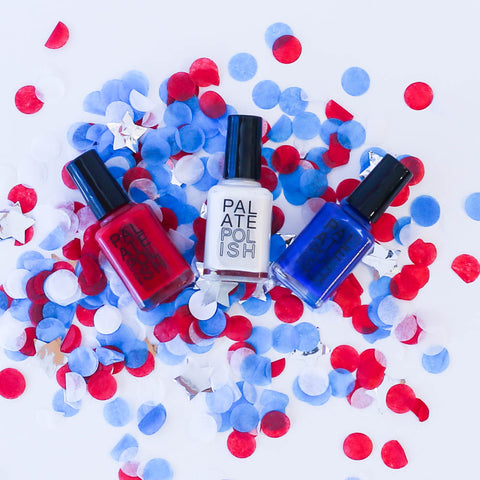 Red White & Blue Nail polish