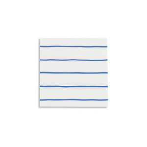 JAC cobalt frenchie striped napkins -  - Napkin - Feliz Modern