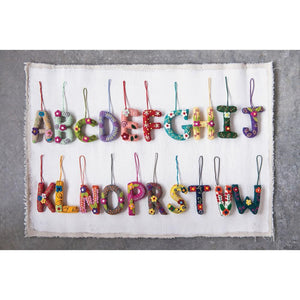 CCO* Wool Felt Embroidered Alphabet Letter Ornament -  - Ornament - Feliz Modern