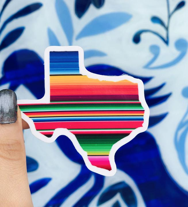 VT Texas Sarape 3x3 Sticker