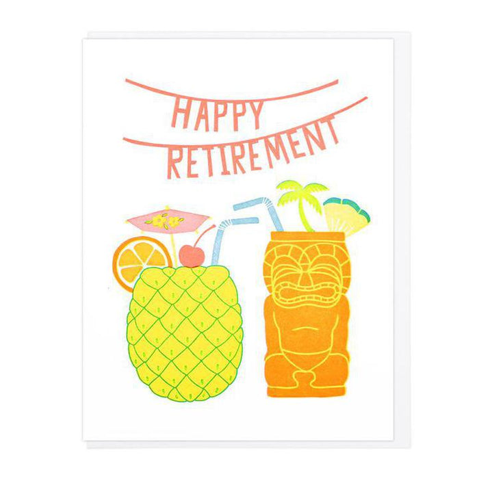LHPE happy retirement cocktails card