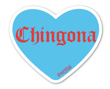 VT Chingona Heart Sticker