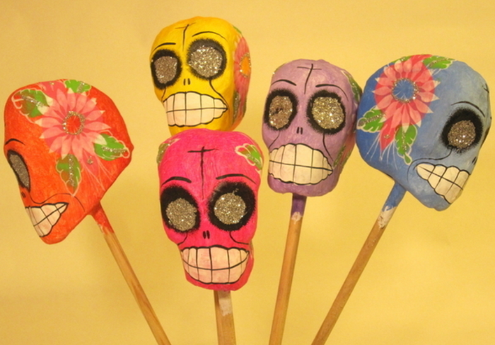 BUI Colorful Calavera Maracas