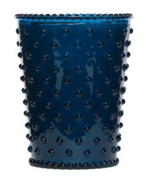 SIM Ambergris Hobnail Glass Candle -  - Candle - Feliz Modern