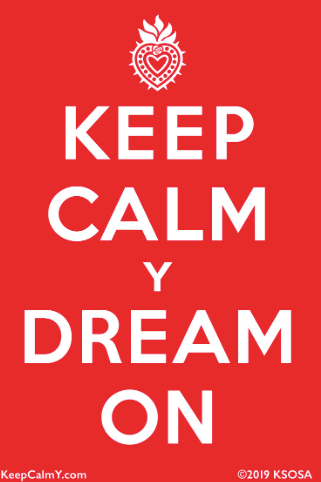 SOSA Keep Calm Dream On Sticker