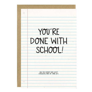 LLSE Done with School Graduation Card -  - Card - Feliz Modern