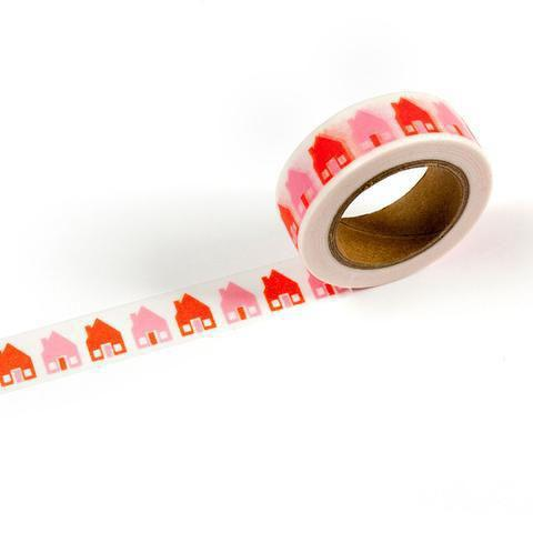 SPPCE Pink and orange house washi tape