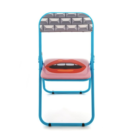SLTI Mouth folding chair (curbside only, no shipping)