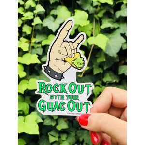 FMD rock out guac out sticker -  - Sticker - Feliz Modern