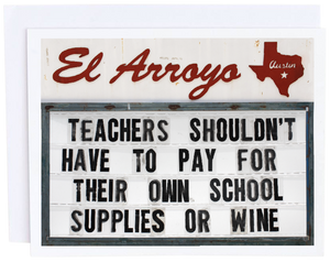 CPC Teachers Shouldn't Pay Card -  - Card - Feliz Modern