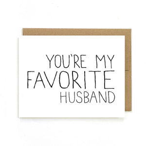 UNBG Favorite Husband Card -  - Card - Feliz Modern