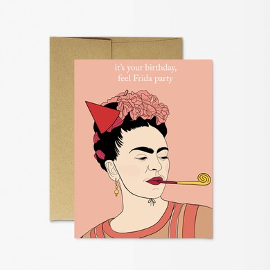 PMP frida kahlo bday card