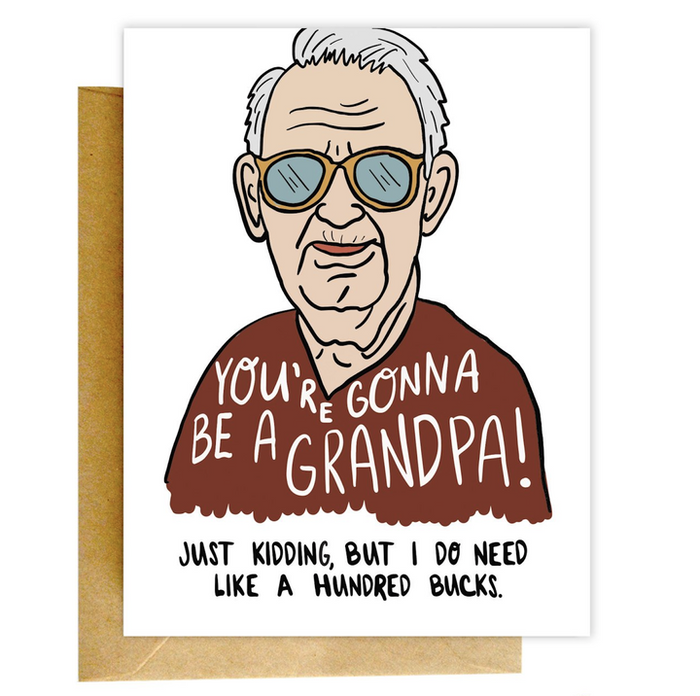 KNC fake youre gonna be a grandpa card