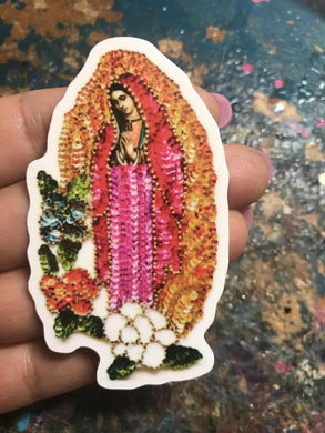 VT Virgencita Sequin Sticker