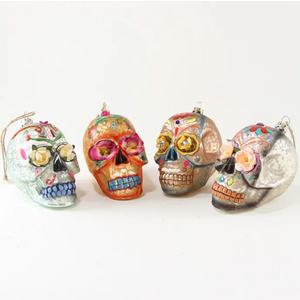 CFC Day of the dead flower skull