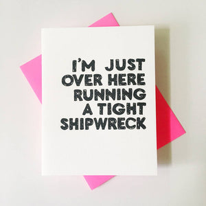 RCD Running a Tight Shipwreck -  - Card - Feliz Modern