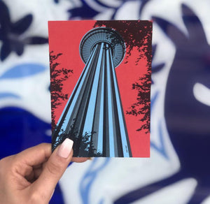 ADO Hemisfair Tower Art Print/Postcard by Analy Diego -  - Art Print - Feliz Modern