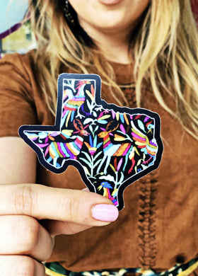 NAT Texas Chalkboard Otomi Sticker
