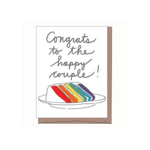 LFGE Rainbow Cake Wedding Card