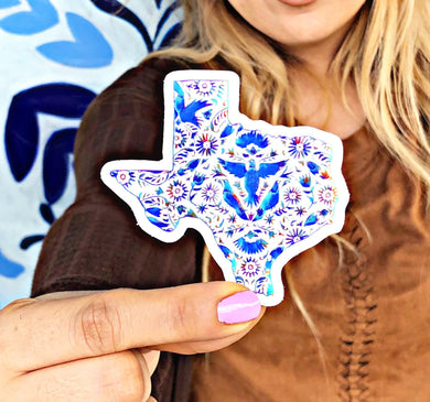 NAT Texas Blue Otomi Sticker