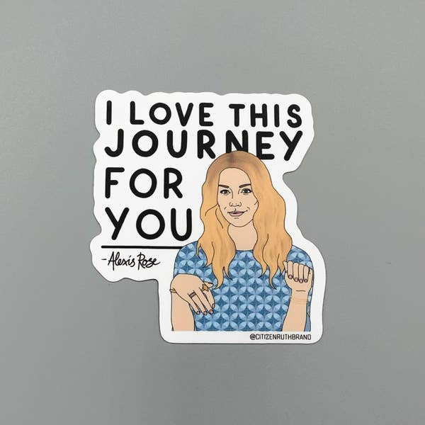 CTR Alexis Journey Sticker Schitt's creek