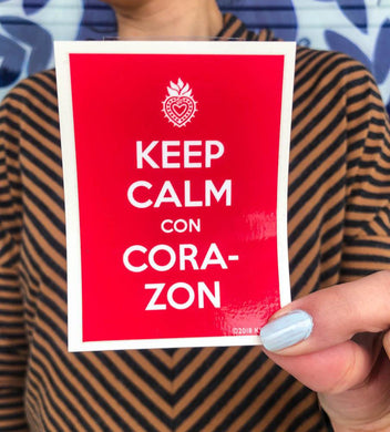 SOSA Keep Calm Corazon Sticker