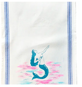 VVF Neon La Sirena Mermaid  Tea Towel