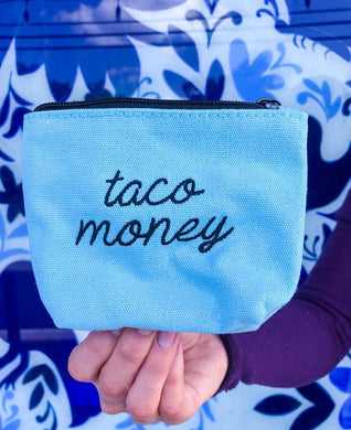 FMD Embroidered Taco Money Pouch