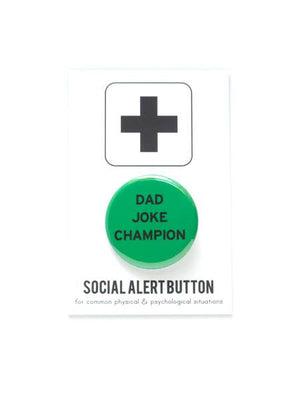 WRD Dad Joke Champion Button -  - Button - Feliz Modern