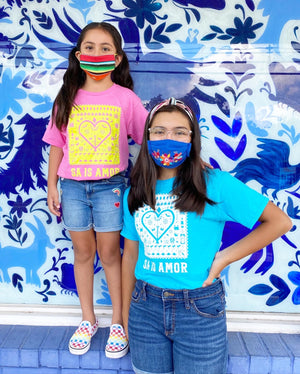 MMF SA is Amor Kid Shirts -Blue and White -  - Kids Clothing - Feliz Modern