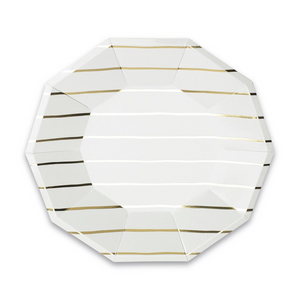 JAC  Frenchie Gold Metallic Plates -  - Plate - Feliz Modern