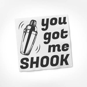 TSW* You Got Me Shook Cocktail Napkins -  - Cocktail Napkin - Feliz Modern