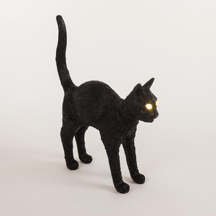 SLTI felix cat lamp in black (curbside only, no shipping)