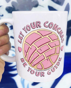 FMD Let Your Conchas Be Your Guide Mug - supports the SAA African American Community Fund