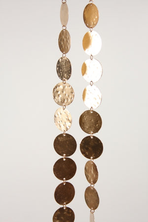 CFC Rose Gold Hammered Brass Garland -  - Garland - Feliz Modern